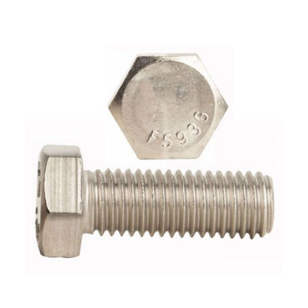 Fully Threaded Pack of 5 1//2-20 Threads Plain Finish 1-1//2 Length 316 Stainless Steel Hex Bolt Meets ASME B18.2.1//ASTM F593 External Hex Drive Hex Head